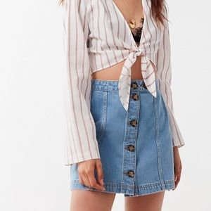 BDG urban outfitters horn-button mini skirt size S